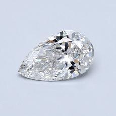 0.51-Carat Pear Diamond Very Good G SI1