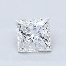 1,01-Carat Princess Diamond Very Good F VVS1
