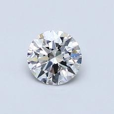 0.51-Carat Round Diamond Ideal F IF