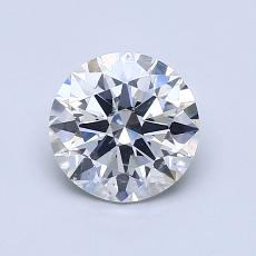1.00-Carat Round Diamond Ideal F SI2