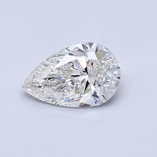 0.50-Carat Pear Diamond Very Good G SI1