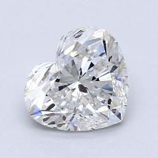 1,01-Carat Heart Diamond Very Good F SI2