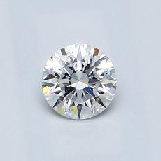 0,50-Carat Round Diamond Ideal E IF