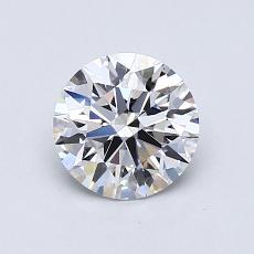 0.75-Carat Round Diamond Ideal D VVS1
