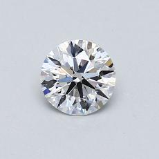 0.50-Carat Round Diamond Ideal D VS1