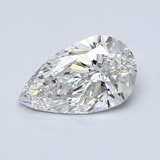 0.72-Carat Pear Diamond Very Good F SI2