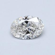 0.51-Carat Oval Diamond Very Good H VVS2