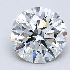 2.03 Carat 圓形 Diamond 理想 F VS1