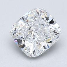 1.52-Carat Cushion Diamond Very Good D VVS2