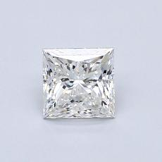 0.71-Carat Princess Diamond Very Good F VVS1