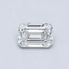 Pierre recommandée n°4: Diamant 0,42carat taille émeraude