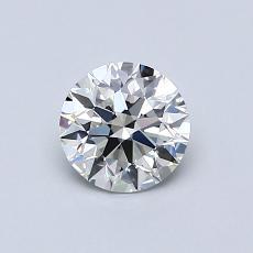 0.70-Carat Round Diamond Ideal G VVS2