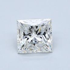 1.00 Carat 公主方形 Diamond 非常好 G VVS1