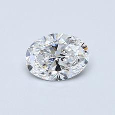 推薦鑽石 #1: 0.46 克拉橢圓形切割鑽石