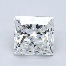 1.50-Carat Princess Diamond Very Good G SI2