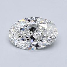 0.82-Carat Oval Diamond Very Good F IF