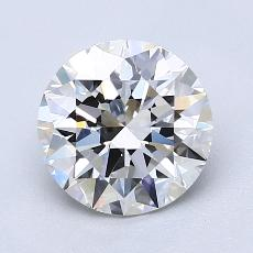 1.64-Carat Round Diamond Ideal G VVS2