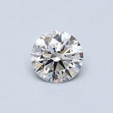 0.50 Carat 圆形 Diamond 理想 F VS2