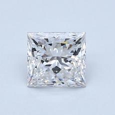 1.00-Carat Princess Diamond Very Good F VVS2