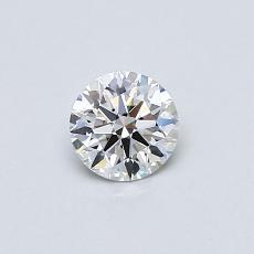 0.40 Carat 圆形 Diamond 理想 H VVS1