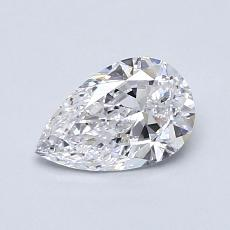 0.71-Carat Pear Diamond Very Good D IF