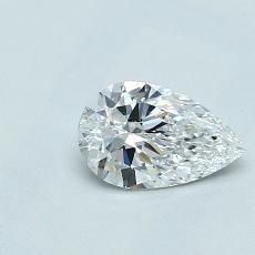 0.50-Carat Pear Diamond Very Good D VVS2