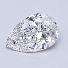 1.02-Carat Pear Diamond Very Good D SI1