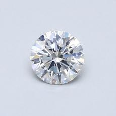 0.51-Carat Round Diamond Ideal F SI1