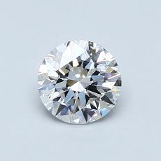 0,67 Carat Rond Diamond Idéale D IF