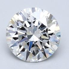 2.02-Carat Round Diamond Ideal H VS1