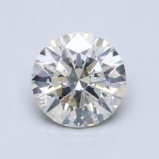 1.02-Carat Round Diamond Ideal J SI2