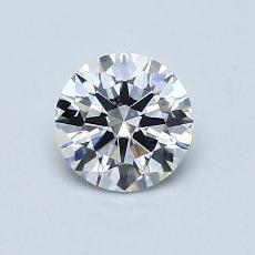 0.61-Carat Round Diamond Ideal D IF
