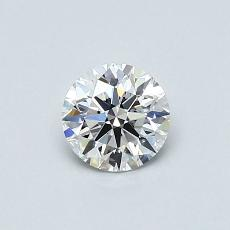 0.52 Carat 圓形 Diamond 理想 E VS1