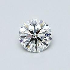 0.53-Carat Round Diamond Ideal E VS1