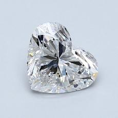 1.08-Carat Heart Diamond Very Good F SI1