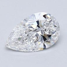 1.08-Carat Pear Diamond Very Good D VVS2
