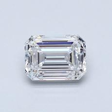 0.80-Carat Emerald Diamond Very Good D VS1