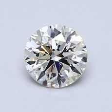 0,90-Carat Round Diamond Ideal K VS1