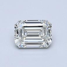 Pierre cible: Diamant taille émeraude 0,82 carat
