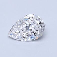 0.70 Carat Pera Diamond Muy buena D SI2
