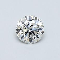 0.50-Carat Round Diamond Ideal D VVS1