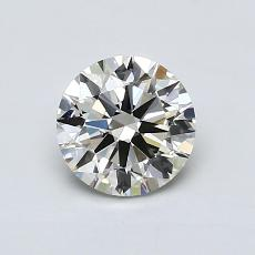 0.80-Carat Round Diamond Ideal K VVS1
