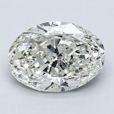 1.70-Carat Oval Diamond Very Good J SI2