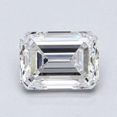 推荐宝石 1:1.51 克拉祖母绿切割钻石