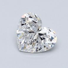 1,00-Carat Heart Diamond Very Good D VVS1