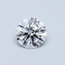 0,52-Carat Round Diamond Ideal D IF