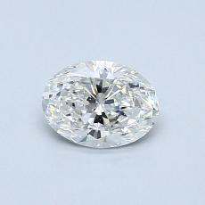 0.51 Carat 椭圆形 Diamond 非常好 F VVS1