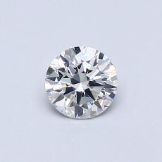 0.40-Carat Round Diamond Ideal F SI1