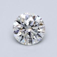 0.90-Carat Round Diamond Ideal D VVS2