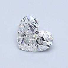 0.71-Carat Heart Diamond Very Good D VS2